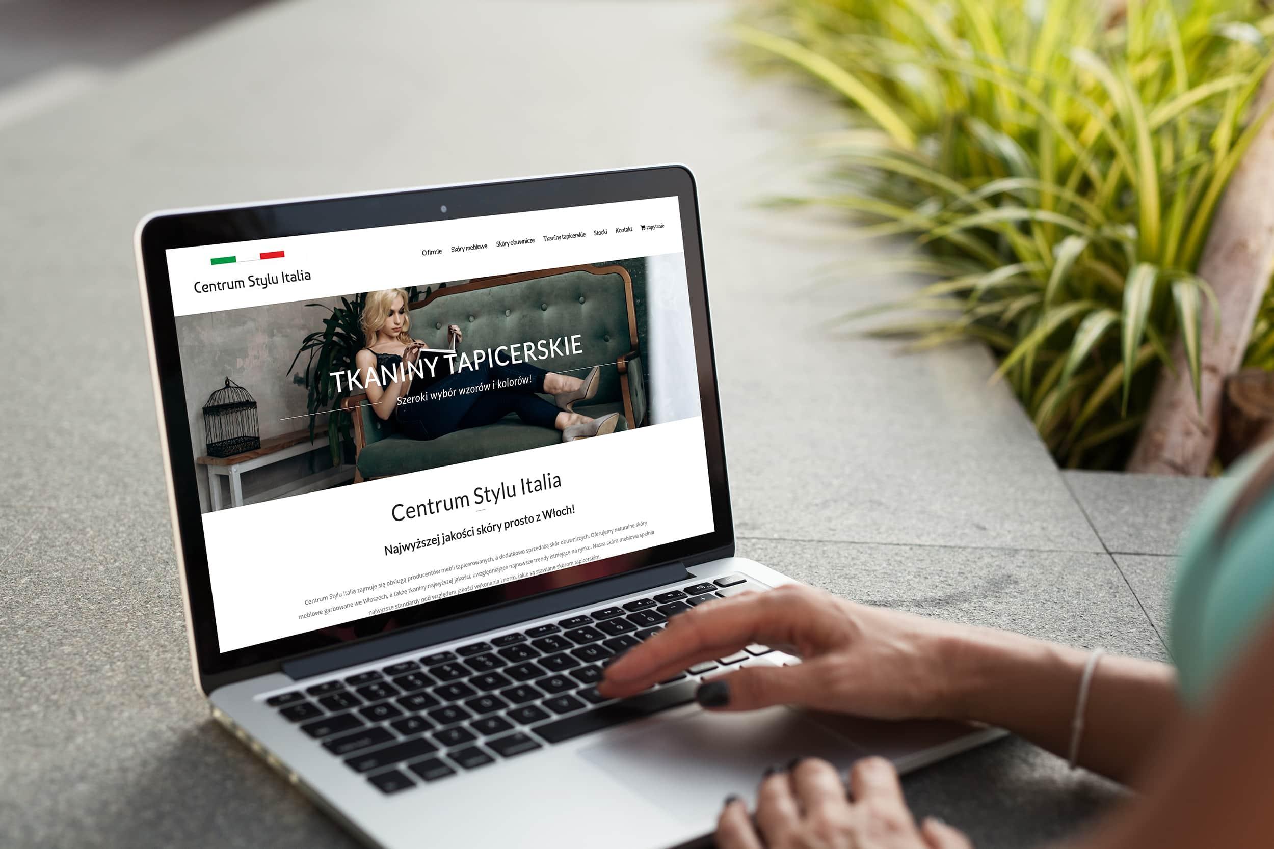 screenshot - strona internetowa tkaniny tapicerskie kalwaria zebrzydowska
