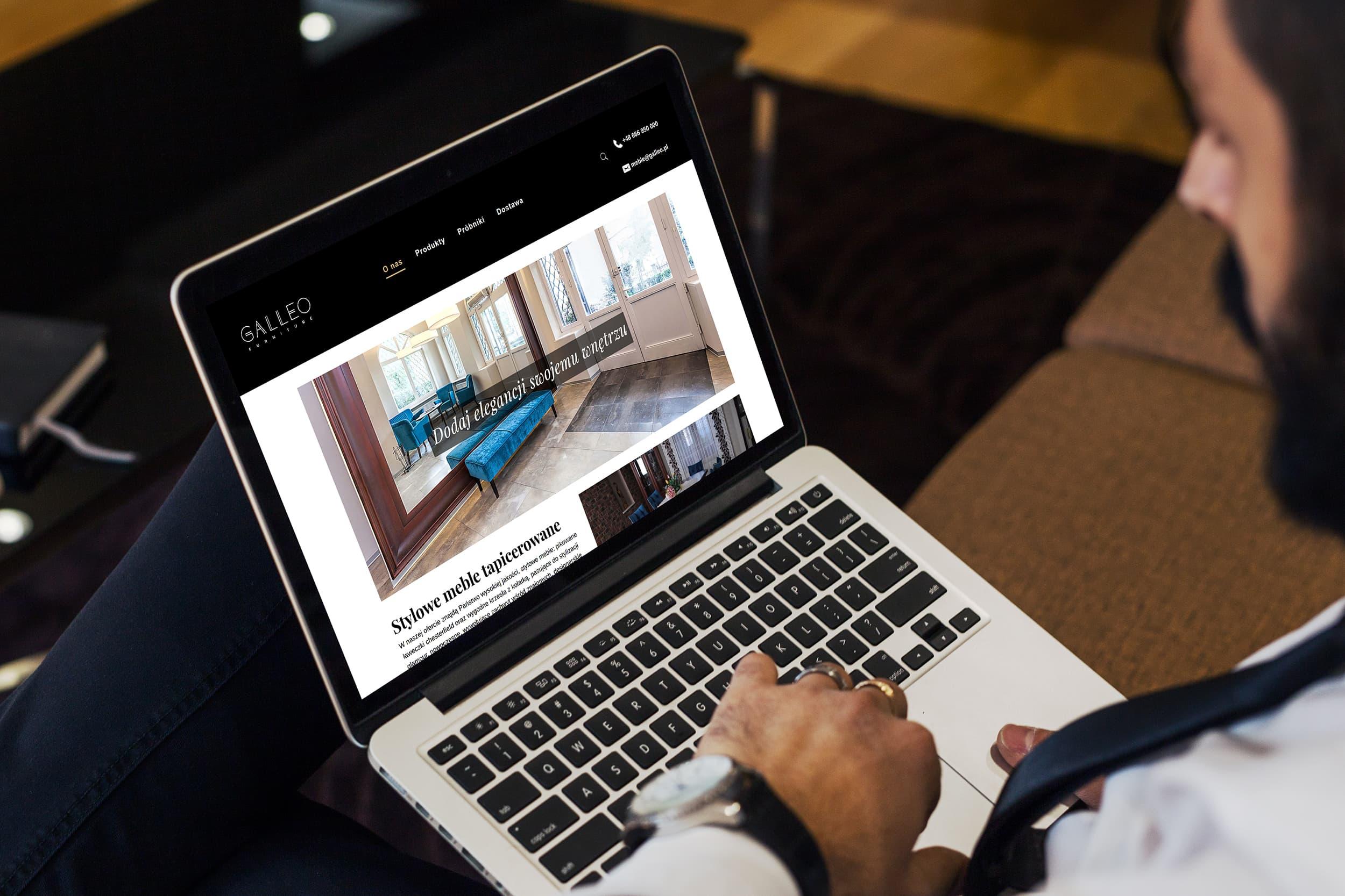 screenshot - strona internetowa galleo kalwaria zebrzydowska