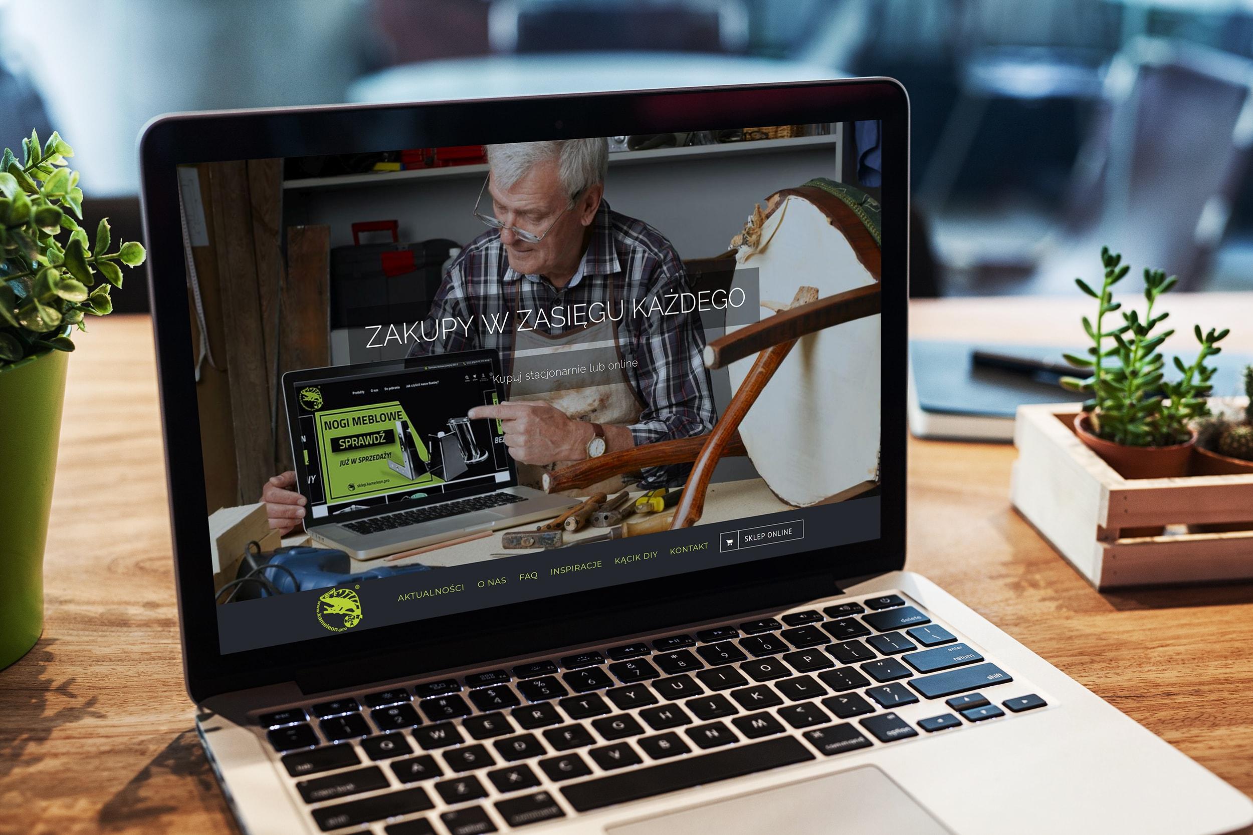 screenshot - strona internetowa kameleon pro kalwaria zebrzydowska